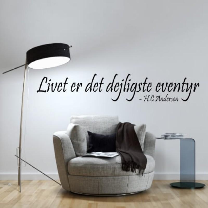 Skab rum i rummet med wallstickers med citater